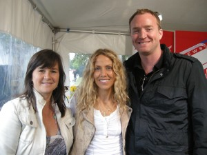Interviewing the amazing Sheryl Crow backstage at Lilith Fair